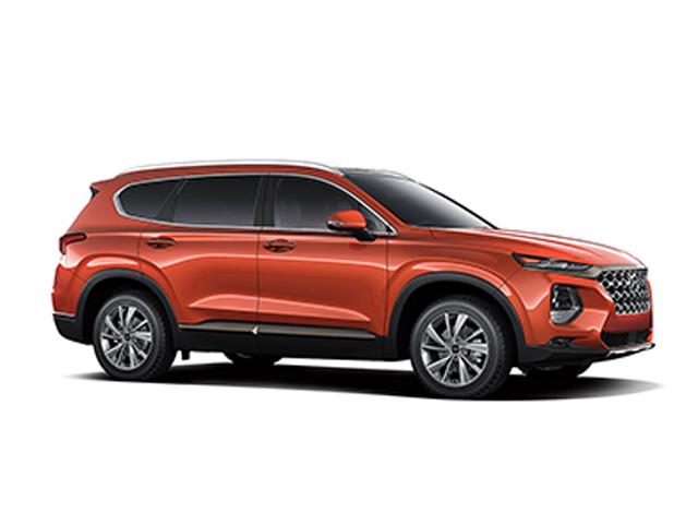 2019 Hyundai Santa Fe 24L Limited AWD Lava Orange Black Leather OPTION GROUP 01 -inc standard