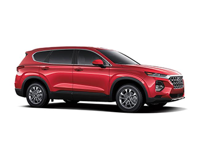 2019 Hyundai Santa Fe SE AWD Scarlet Red Black Cloth OPTION GROUP 01 -inc standard equipment