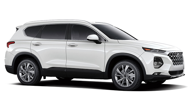 2019 Hyundai Santa Fe 24L SEL Plus AWD Quartz White Gray Cloth OPTION GROUP 01 -inc standard e