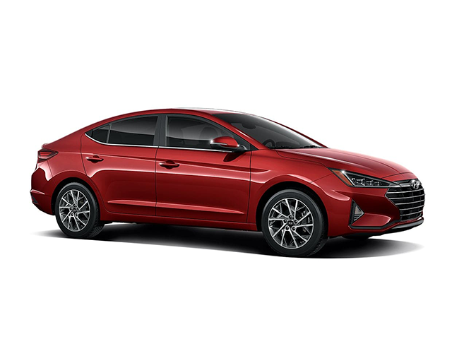 2019 Hyundai Elantra Limited Auto Scarlet Red Gray Leather OPTION GROUP 01  SCARLET RED  GRAY